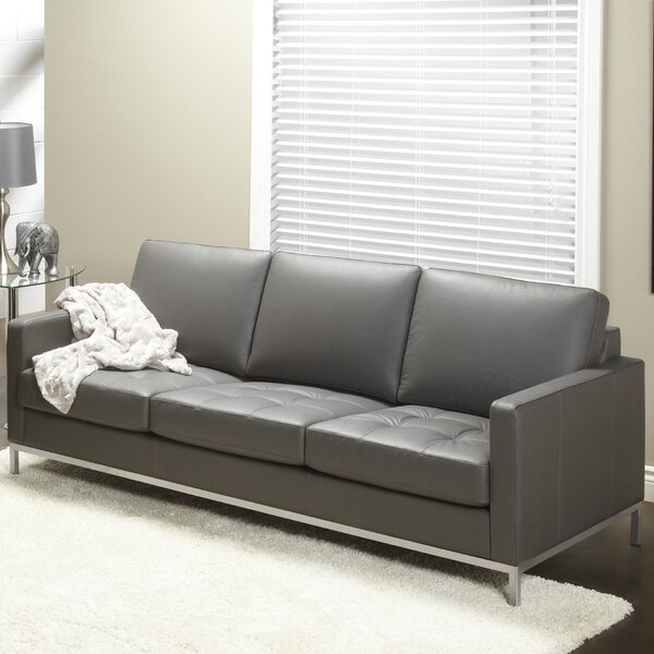 Closeout 244 Series Regency Leather Sofa by Lind Furniture by Lind Furniture