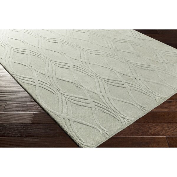 Dionne Hand-Tufted Green Area Rug by Ebern Designs
