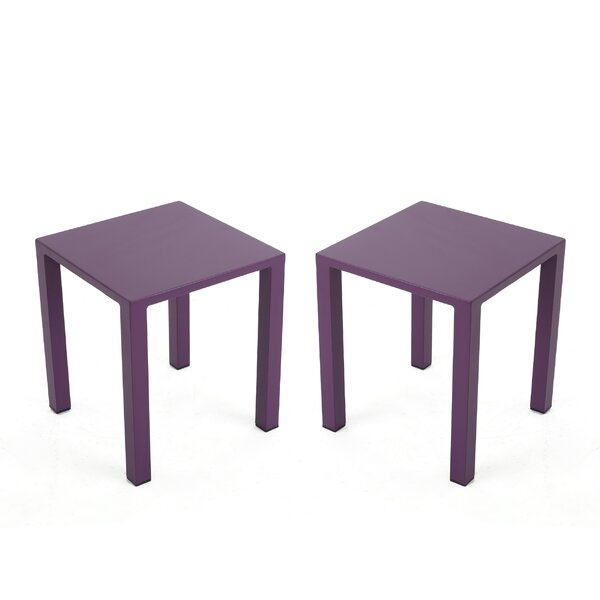 Pekalongan Rust-Proof Aluminum Side Table (Set of 2) by Ebern Designs