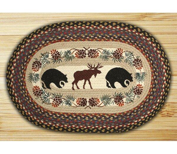 Bear/Moose Printed Area Rug by Earth Rugs