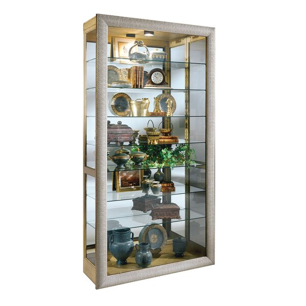 Mayores Lighted Curio Cabinet by Charlton Home Charlton Home