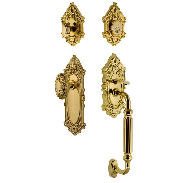 Grande Victorian F Grip Handleset with Door Knob by Grandeur