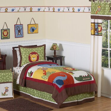 Jungle Time 4 Piece Twin Comforter Set by Sweet Jojo Designs