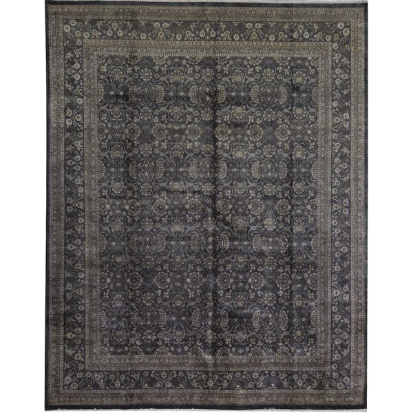 One-of-a-Kind Marquis Hand-Knotted Brown 12'2 x 15'4 Area Rug
