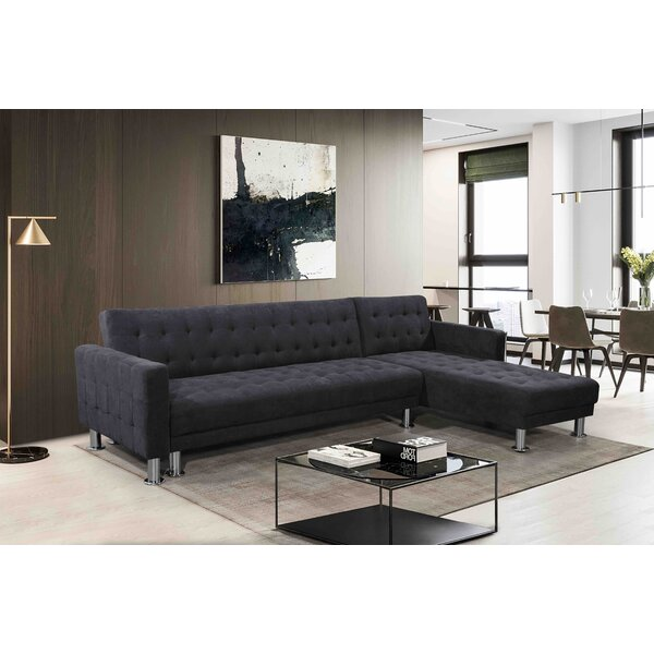 Modern Brand Lacaille Reversible Sleeper  Sectional by Brayden Studio by Brayden Studio