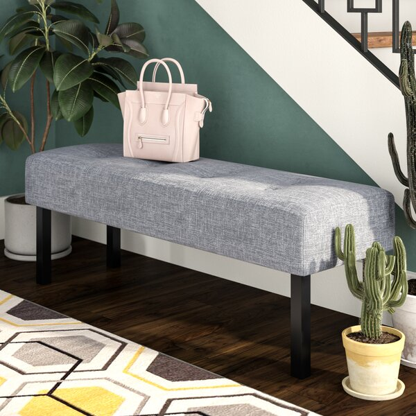 Geiser Upholstered Memory Foam Bench by Zipcode Design