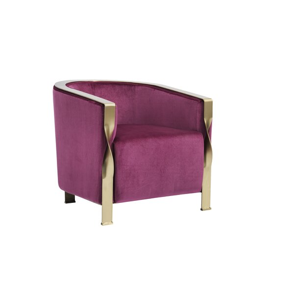 Barbra Modern Barrel Chair by Everly Quinn