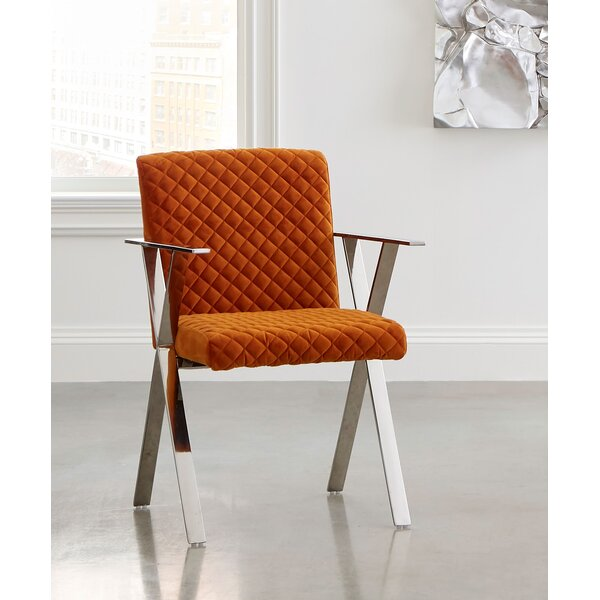 Upholstered Solid Back Arm Chair in Orange by Phillips Collection Phillips Collection