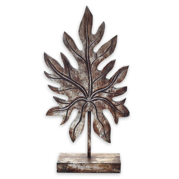 Lansford Papaya Leaf Gilt on Wood Sculpture by Millwood Pines