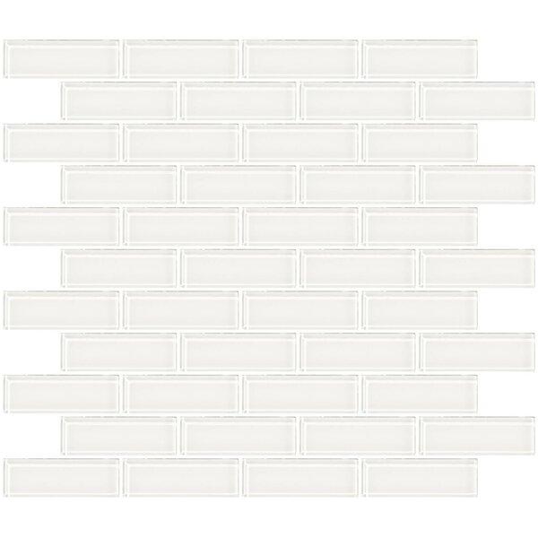 1 x 3 Glass Subway Tile in Super White by Susan Jablon