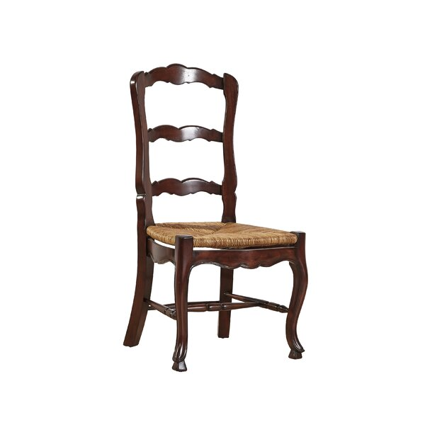 French Country Solid Wood Ladder Back Side Chair (Set Of 2) By Furniture Classics