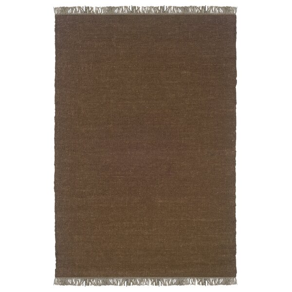 Landenberg Hand-Woven Cocoa Area Rug by Bay Isle Home