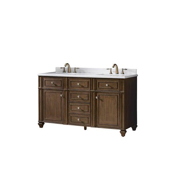 Paulita 60 Double Bathroom Vanity Set by Ove Decors