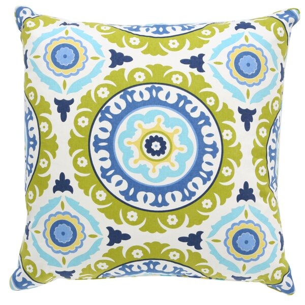 Portobello Road Henna Cotton Throw Pillow by Bungalow Rose