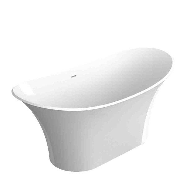Anais 60 x 24 Freestanding Soaking Bathtub by Transolid