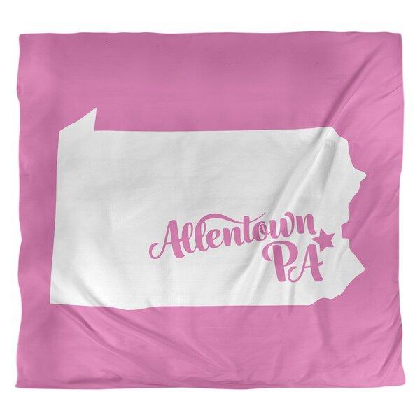 Allentown Pennsylvania Single Reversible Duvet Cover