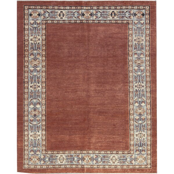 One-of-a-Kind Zarbof Hand-Knotted Wool Rust/Blue Area Rug by Bokara Rug Co., Inc.