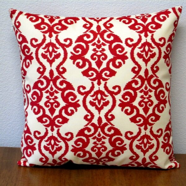 Damask Modern Geometric Outdoor Pillow Cover (Set of 2) by Artisan Pillows