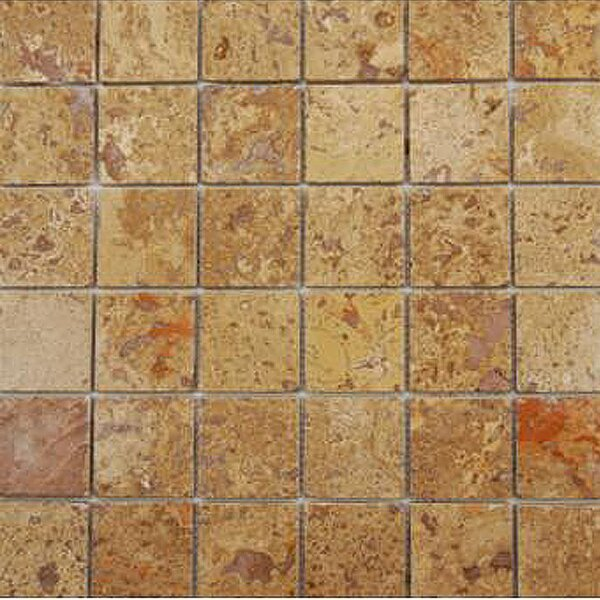 1 x 1 Travertine Mosaic Tile in Unpolished Brown by Epoch Architectural Surfaces