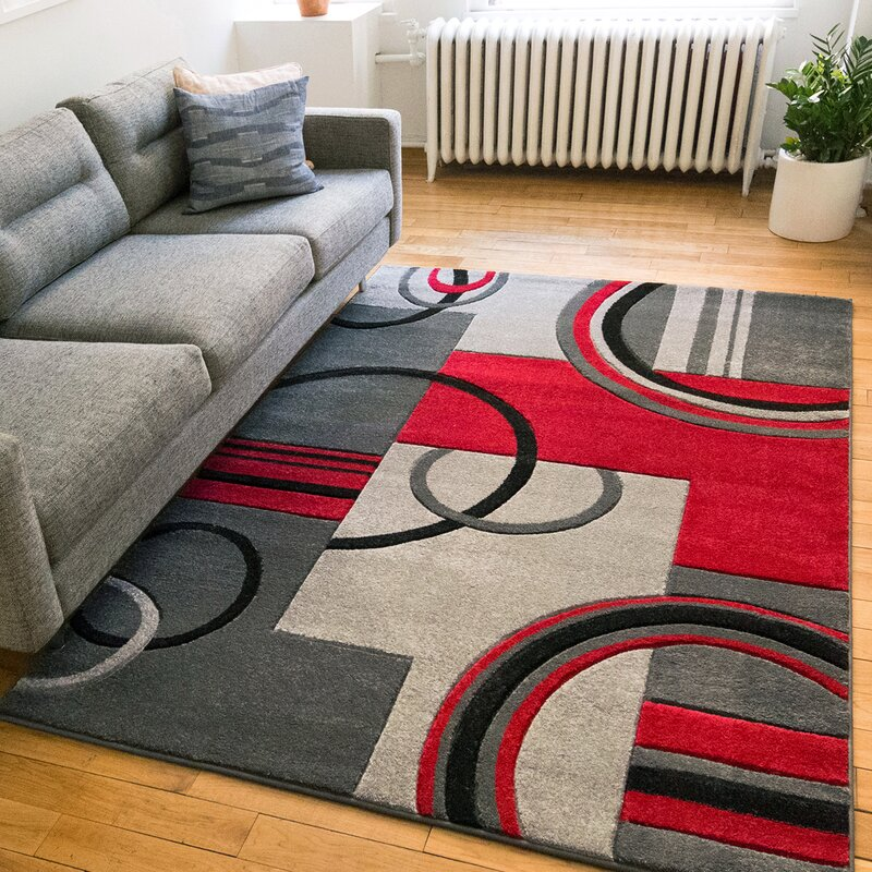 Red And Grey Area Rugs Rugs Ideas