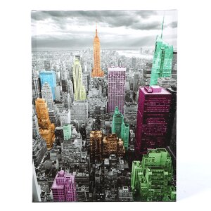 'Highlights of New York Skyline' Graphic Art on Canvas by Zipcode Design