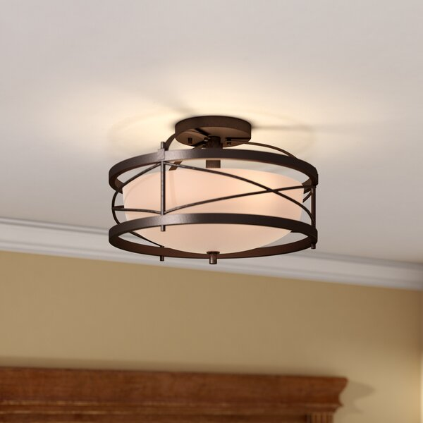 Farrier 2-Light Semi Flush Mount by Darby Home Co