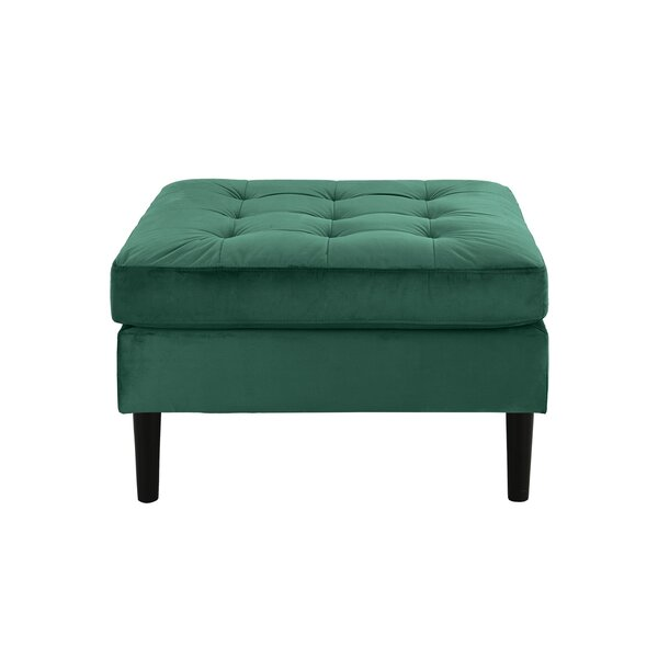 Wilde Square Shaped Tufted Cocktail Ottoman by Rosdorf Park