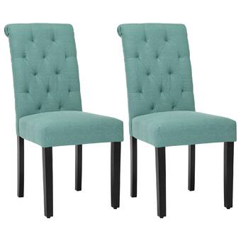 Canora Grey Kenner Tufted Upholstered Parsons Chair In White Wayfair