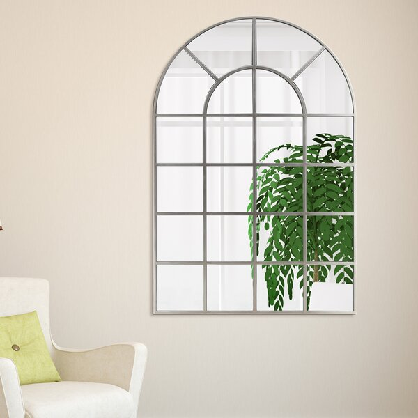 McKenney Arch Window Pane Wall Mirror by Ophelia & Co.