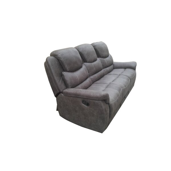 Natalie Leather Reclining Sofa By 17 Stories