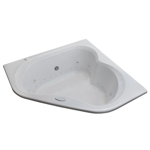 Tobago Dream Suite 59.25 x 59.25 Corner Air Jetted Bathtub by Spa Escapes