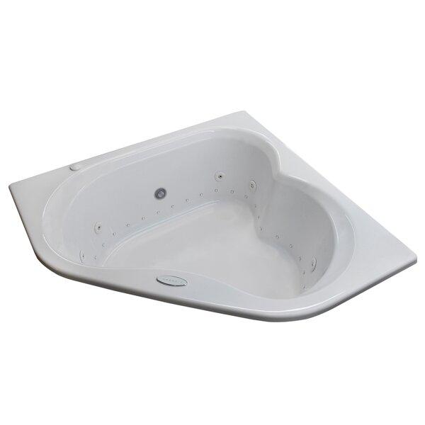 Tobago Dream Suite 59.25 x 59.25 Corner Air Jetted Bathtub by Spa Escapes