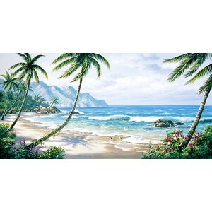 'Paradise' Painting Print on Wrapped Canvas by Beachcrest Home