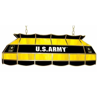 U.S. Army 3-Light Tiffany Billiard Light By Trademark Global