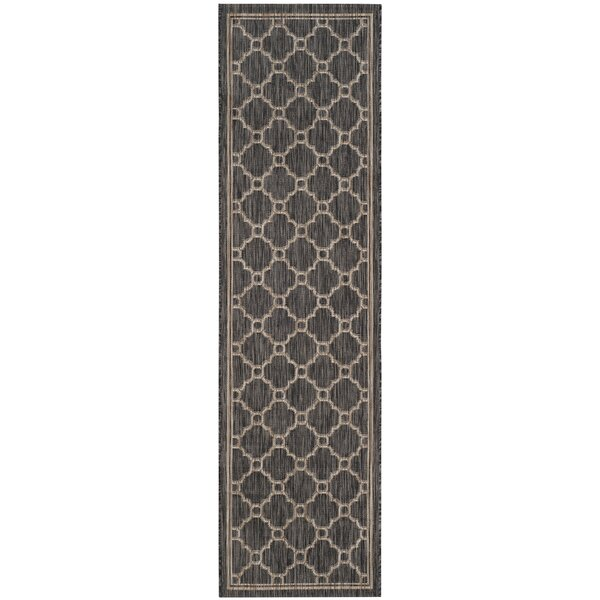 Rockbridge Natural/Black Indoor/Outdoor Area Rug by Alcott Hill