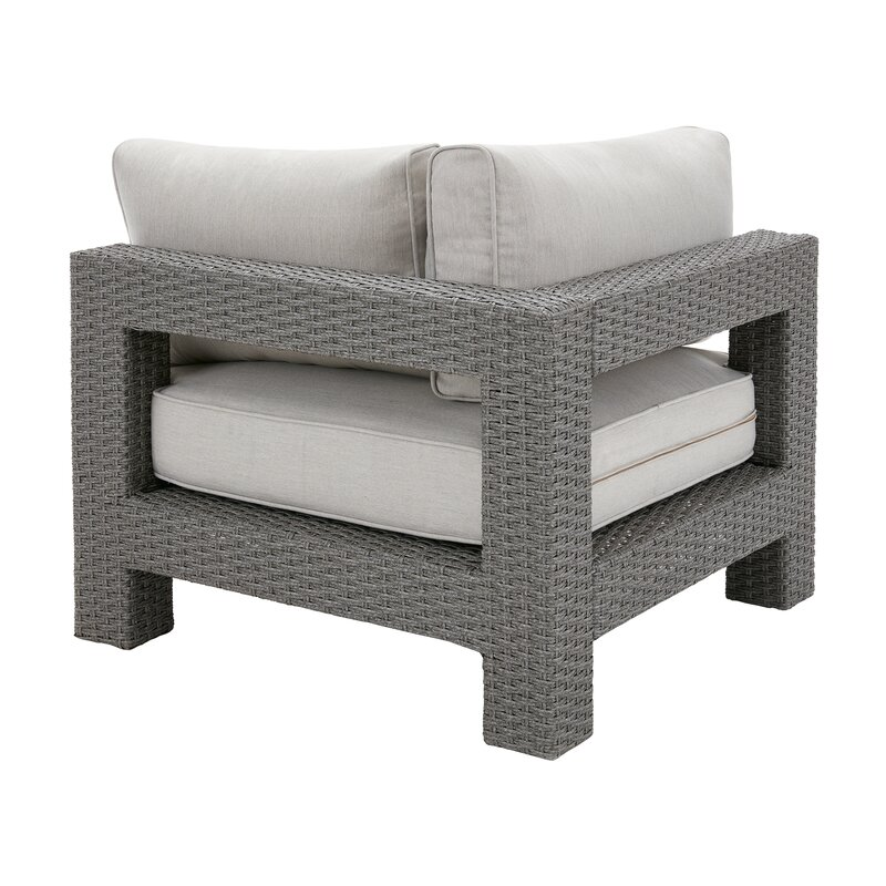 Danaher Outdoor Corner Chair With Cushion