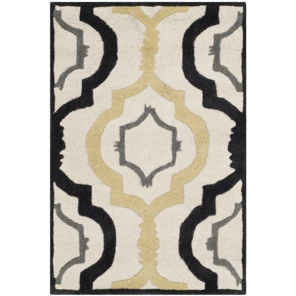 Wilkin Ivory / Multi Moroccan Rug by Wrought Studio