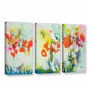 My Garden 3 Piece Painting Print on Wrapped Canvas Set by Latitude Run