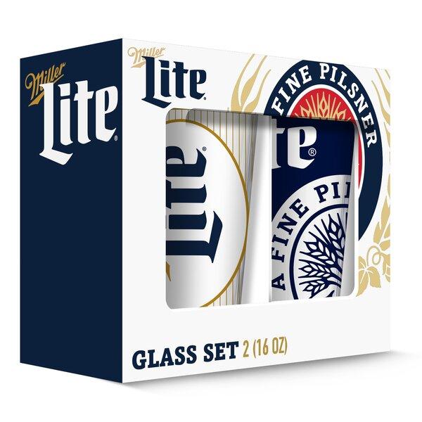 Miller Pub 16 oz. Pint Glass (Set of 2) by PB