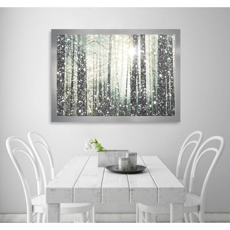 Mercury Row \'Magical Forest\' Silver Framed Graphic Art Print | Wayfair