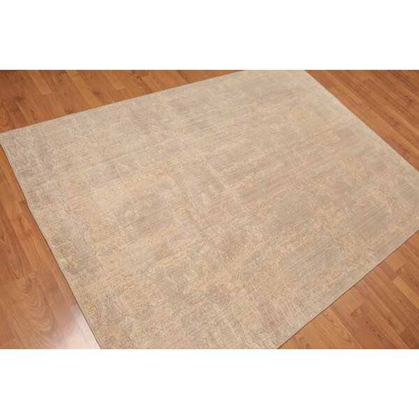 One-of-a-Kind Yorke Hand-Knotted Wool Tan Area Rug by Canora Grey