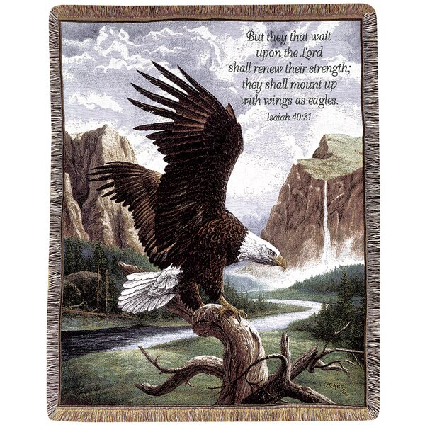 Freedom Picken Verse Tapestry Cotton Throw by Manual Woodworkers & Weavers
