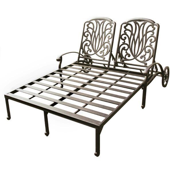 Lebanon Double Chaise Lounge with Cushion by Three Posts Three Posts