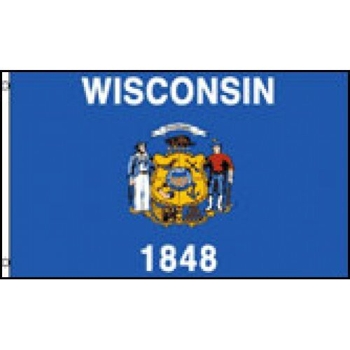 Wisconsin State Traditional Flag by NeoPlex