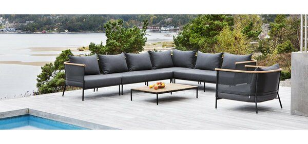 6 Piece Riad Teak Patio Seating Group by OASIQ