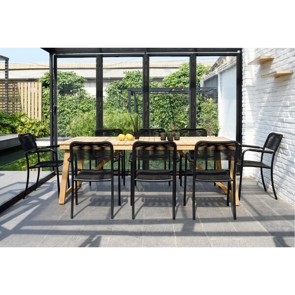Darrah 9 Piece Teak Dining Set By Brayden Studio