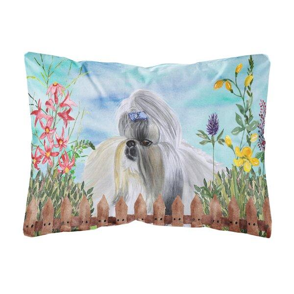 Sandoz Shih Tzu Spring Indoor/Outdoor Throw Pillow by Winston Porter