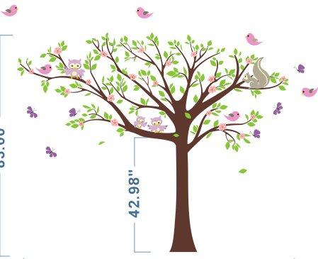 Floral Tree Wall Decal by Pop Decors