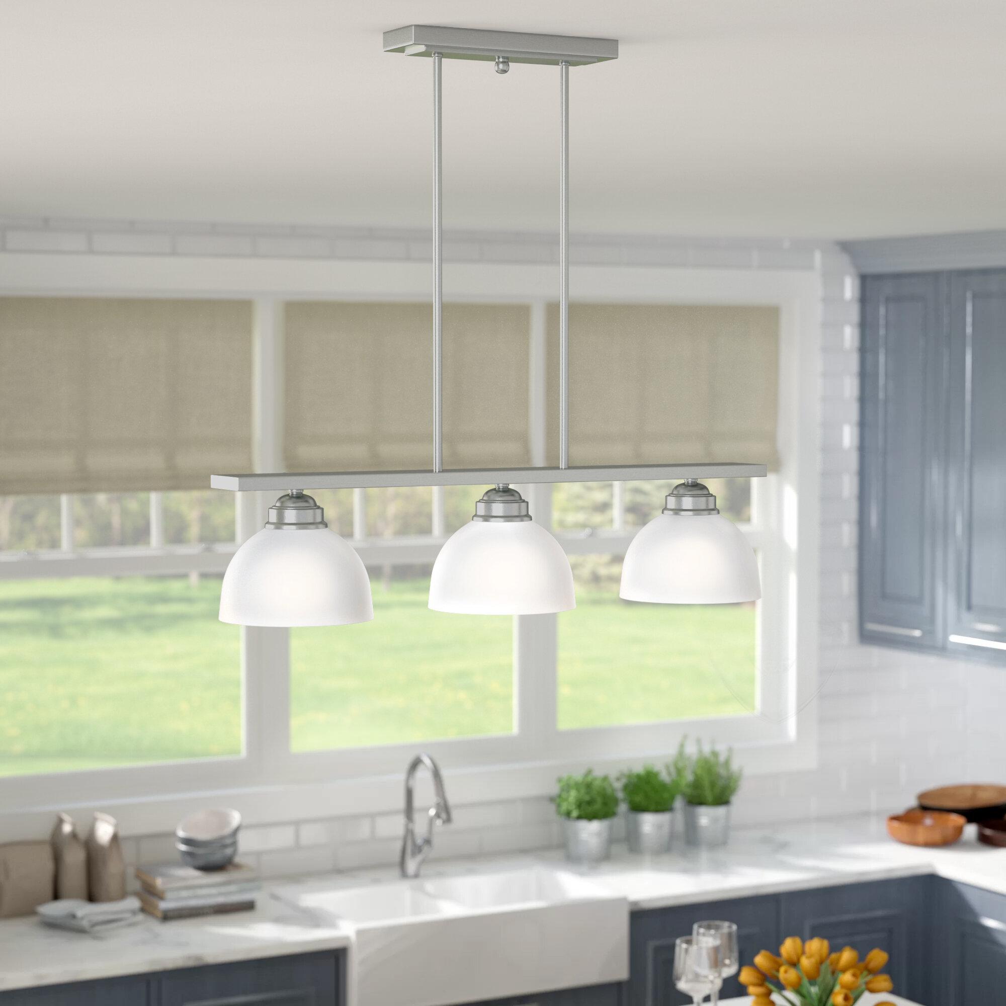 Brushed Nickel Kitchen Island Pendant Lighting You Ll Love In 2020 Wayfair