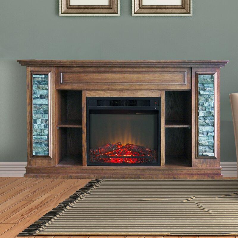 electric fireplace tanaya stone gray stacked w ebony